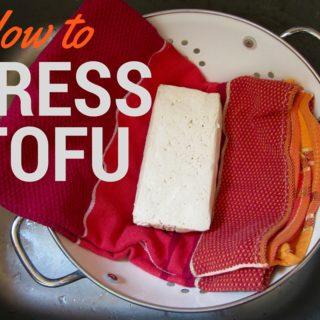 Quick & easy tutorial on how to press tofu before cooking to ensure maximum flavor! | veganchickpea.com