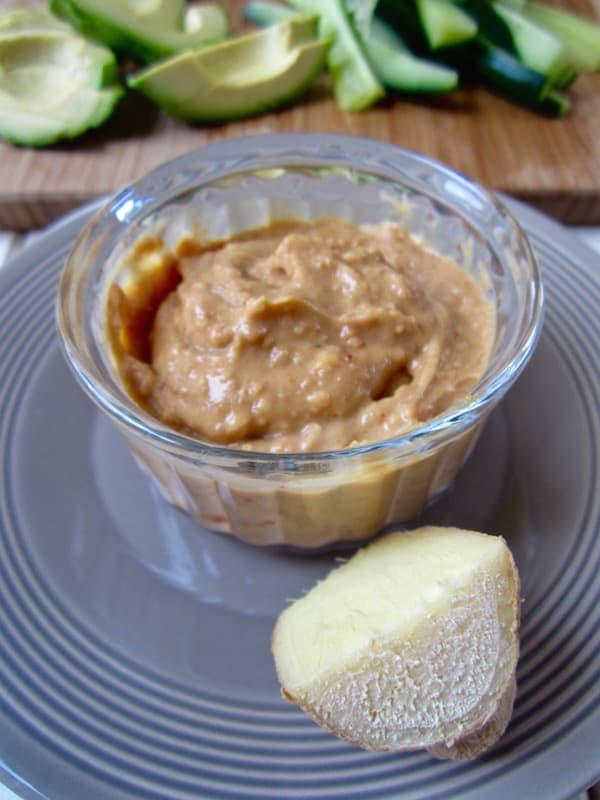 Ginger Almond Sauce - vegan, gluten + soy free | veganchickpea.com