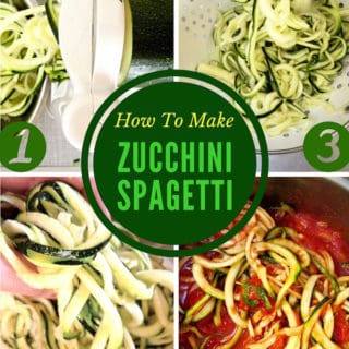 How to make zucchini & squash spaghetti noodles | veganchickpea.com