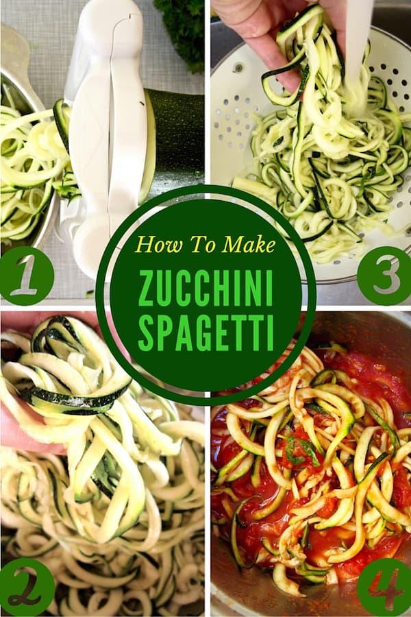 How to make zucchini & squash spaghetti noodles   veganchickpea.com