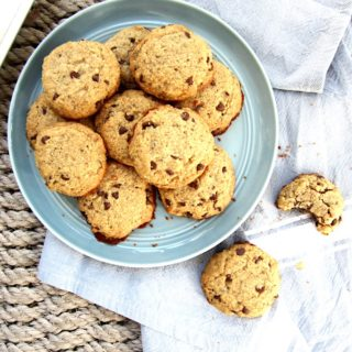 Soft & Healthy Almond Flour Chocolate Chip Cookies (GF, Paleo + Vegan)