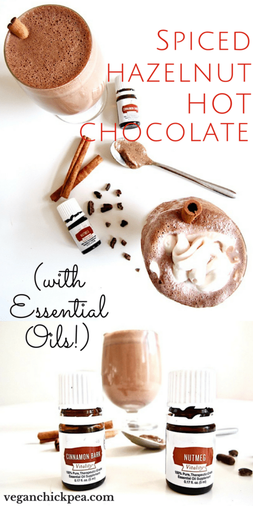 Spiced Hazelnut Hot Chocolate With Essential Oils
