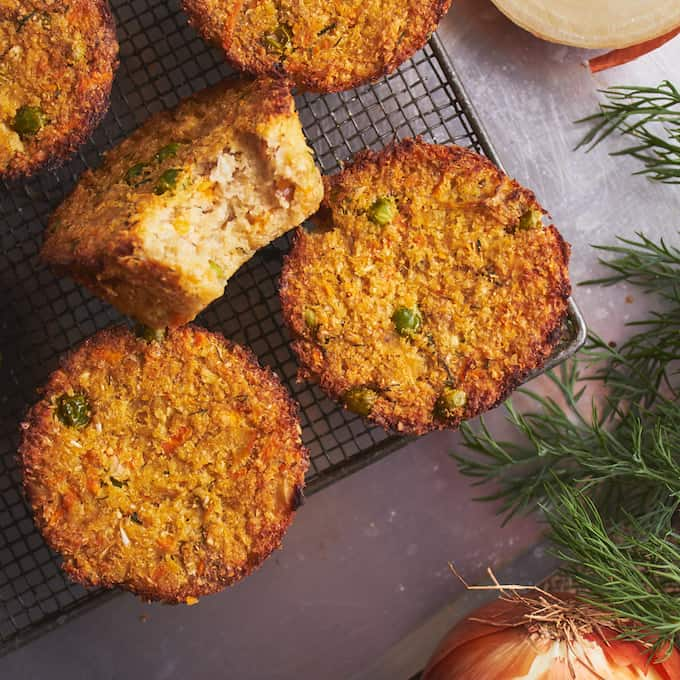 These fluffy, savory veggie muffins are an easy and healthy addition to any meal. Whether eaten on the side, as a main focal point with dinner, or as a snack, these vegan, gluten free and paleo veggie muffins are delicious and nutritious at any time of day!