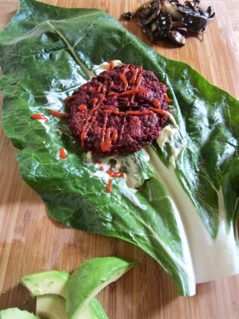 Beet burger recipe - healthy, delicious & 12 grams of protein per patty! {gluten + soy free} | veganchickpea.com