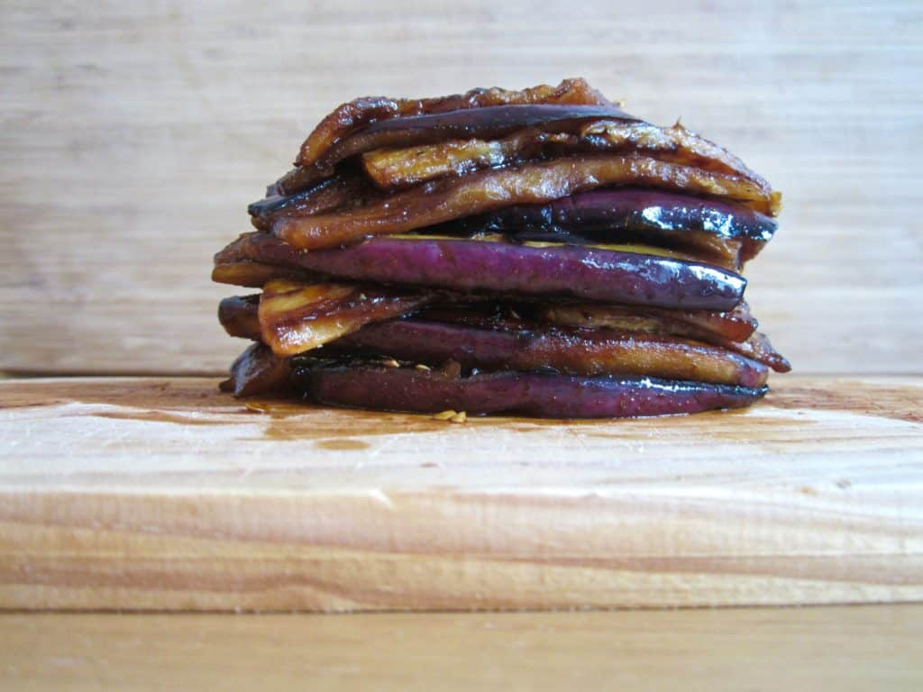 Vegan & gluten free healthy Bacon - Made of out of Eggplant! | veganchickpea.com