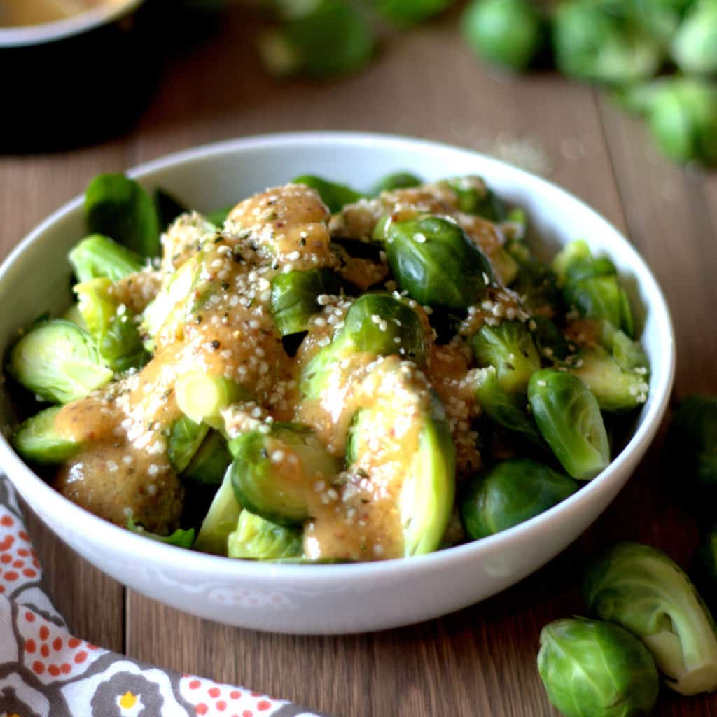 Ginger Miso Brussels Sprouts