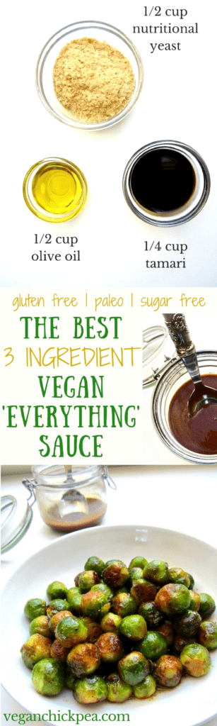 The easiest and most delicious sauce to go with any vegetable, grains or starch. Bonus - each serving has 9g of protein, 4g of fiber and 0 cholesterol! {gluten free, paleo, sugar free, nut free} | veganchickpea.com