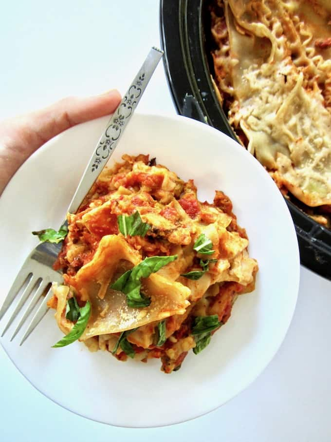Vegan Slow Cooker Lasagna
