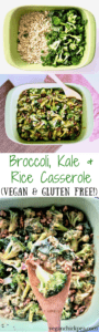 Broccoli, Kale & Rice Casserole Recipe (Vegan & Gluten Free) - a healthy yet hearty dish with plant-based protein that your whole family will enjoy! | veganchickpea.com
