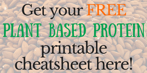 Get Your Free Plant Based Protein Cheatsheet Here