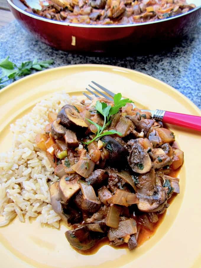 Vegan Mushroom Stroganoff Recipe - a healthier and lighter take on the classic, plus a review of the 'Vegan in 15' Cookbook! | veganchickpea.com