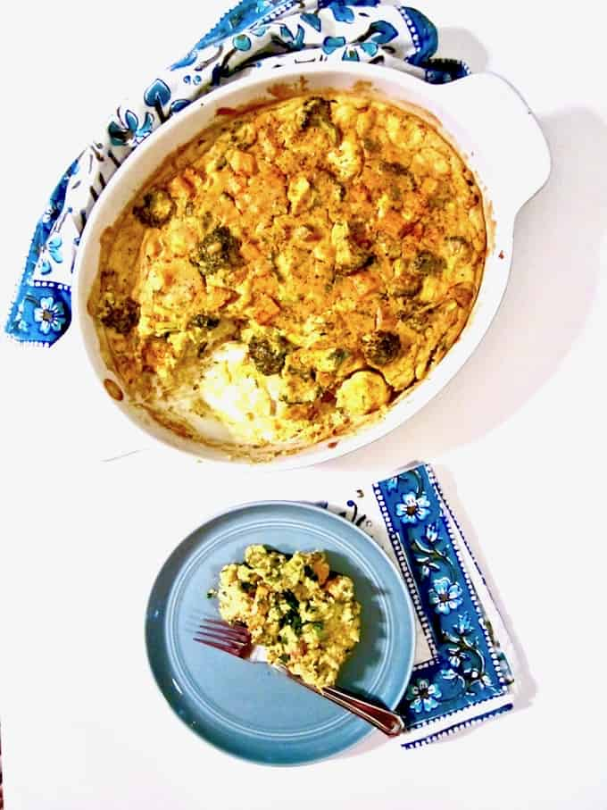 Cauliflower broccoli sweet potato turmeric casserole cauliflower broccoli sweet potato turmeric casserole recipe a healthy clean real forumfinder Image collections