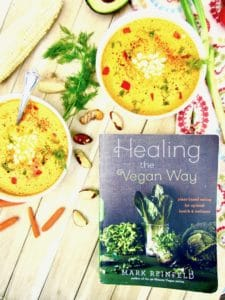 Raw Carrot & Brazil Nut Soup from 'Healing the Vegan Way' recipe - creamy, refreshing and nourishing, this raw soup is both nutritious and highly delicious! Can also be enjoyed warm for a non-raw version. [vegan, gluten free, paleo, oil + sugar free] | veganchickpea.com