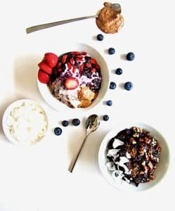 Truly The Best Sugar Free Berry Chia Porridge recipe - satisfyingly thick (no milk needed!), perfectly sweet with no added sugars, high protein & ready in just 15 minutes! Enjoy it warm or cold with your choice of toppings. [Vegan, Gluten Free, Paleo, Grain Free] | veganchickpea.com
