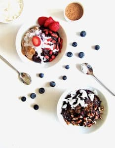 Truly The Best Sugar Free Berry Chia Porridge recipe - satisfyingly thick (no milk needed!), perfectly sweet with no added sugars, high protein & ready in just 15 minutes! Enjoy it warm or cold with your choice of toppings. [Vegan, Gluten Free, Paleo, Grain Free]   veganchickpea.com