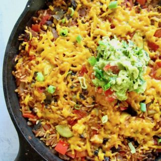Easy One Pan Meal: Vegan Mexican Rice Skillet + Simply Organic Sauce Giveaway!