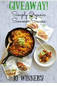 This Easy One Pan Meal: Vegan Mexican Rice Skillet (gluten free!) is a great weeknight dinner side or main meal. Simply toss rice, black beans, diced tomatoes, Simply Organic Simmer Sauce and some veggies in a skillet and let simmer. Minimal chopping required!   veganchickpea.com