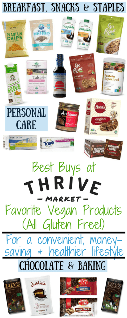 Have you heard about the online healthy grocery store Thrive Market and wondered if it's worth the membership? Today I'm sharing with you all the reasons why I absolutely love Thrive Market to support my healthy lifestyle, and some of my favorite vegan products (all gluten free!) to order that will save you money compared to in-store prices.