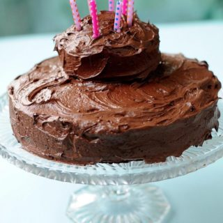 Gluten Free Vegan Chocolate Cake with Nutella Frosting