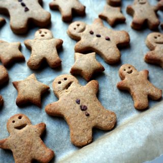 Vegan & Gluten Free Healthy Gingerbread Men Cookies