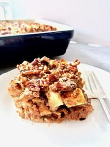 Sweet Noodle Kugel is a traditional Jewish dish, often served during Hanukkah, and now can be enjoyed by almost everyone with this gluten free, dairy free, vegan and refined sugar free version! With a creamy cinnamon cashew cream cheese sauce, apples, raisins, pecans and perfectly soft yet chewy noodles, you're going to love this unique and festive treat!