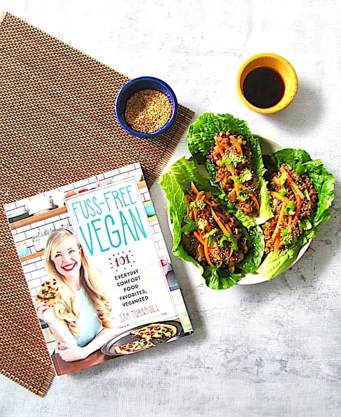 Vegan Lettuce Wraps with Umami Lentils from Fuss Free Vegan Cookbook