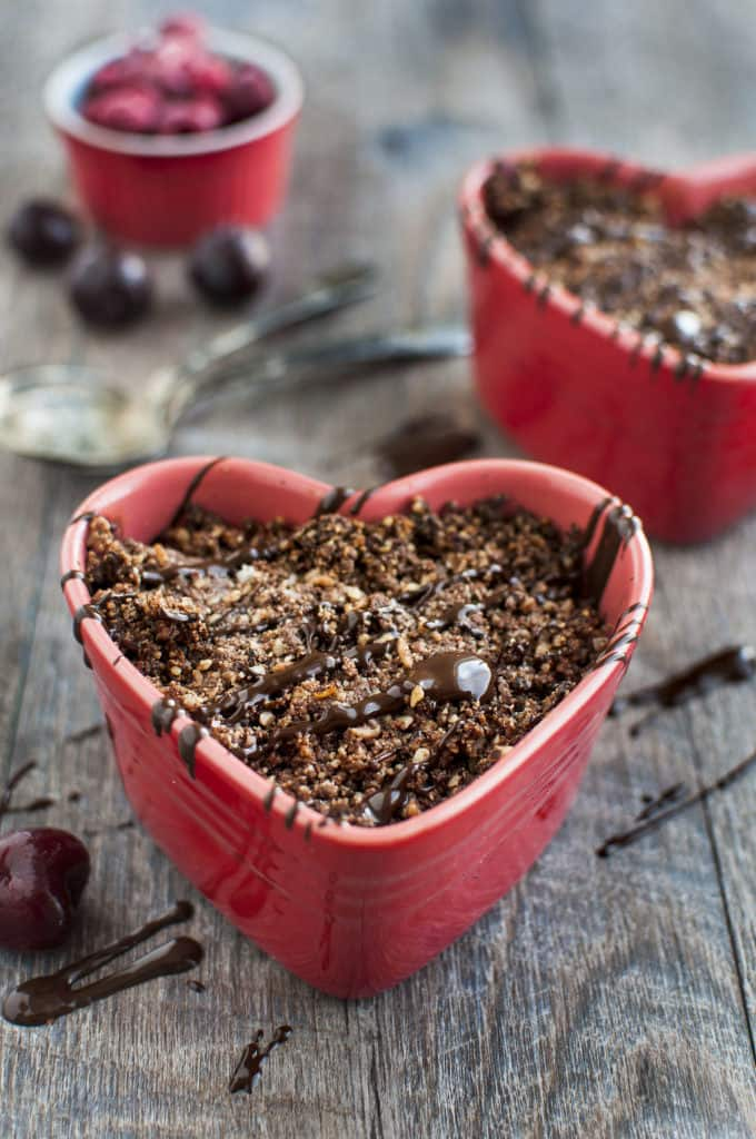 Chocolate Fruit Crisp for Two