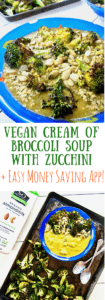 This easy, Vegan Cream of Broccoli Soup with Zucchini is a nourishing, clean eating recipe that is so delicious and simple, you'll come back to it again and again! Plus: save on your next grocery bill with the Cash Back Rebate App, Ibotta!