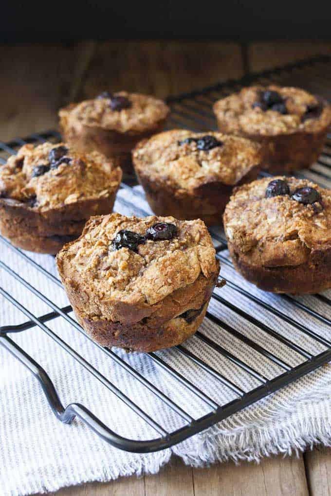 Vegan Blueberry French Toast Breakfast Muffins