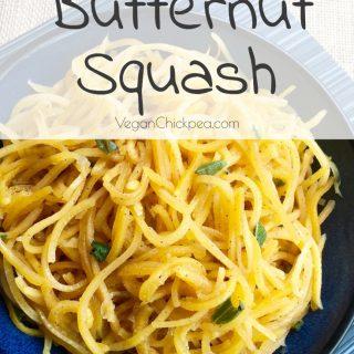 "Butternut Squash ""Noodles"" – A Vegan Pasta Alternative"