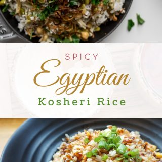 Spicy Egyptian Kosheri Rice Bowl
