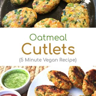 Oatmeal Cutlets (5 Minute Vegan Recipe)