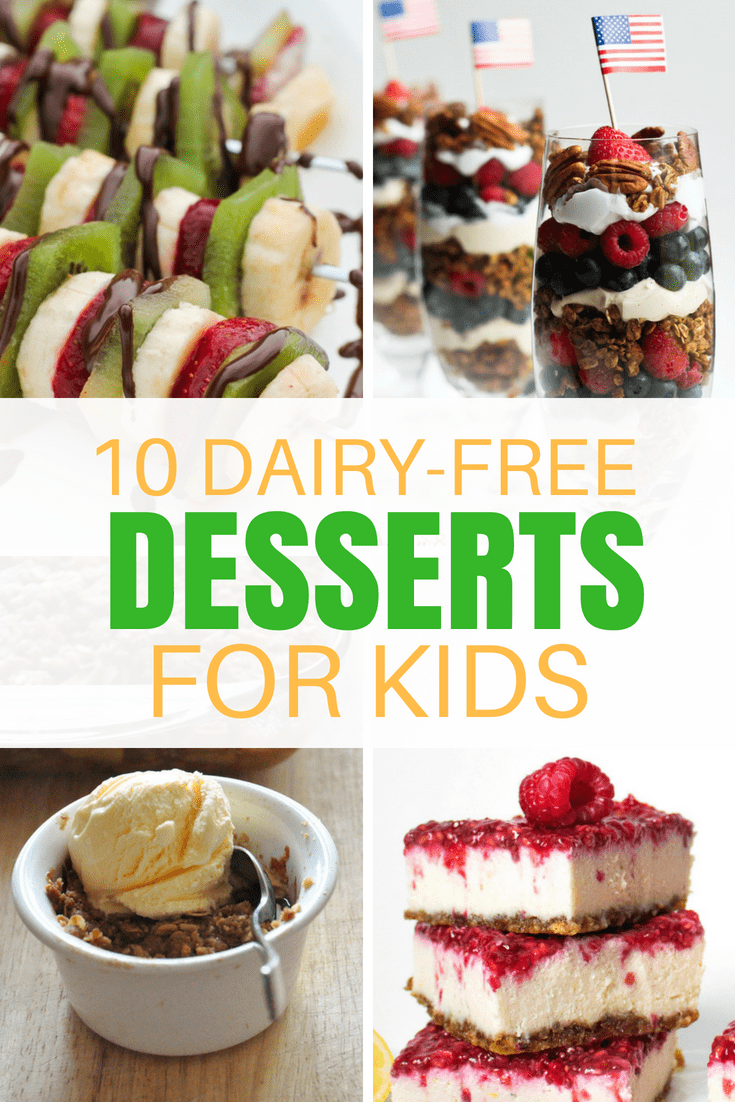 10 Dairy Free Desserts For Kids