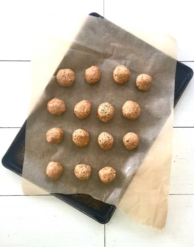 5 Minute No Bake Peanut Butter Hemp Protein Bites (Keto + Sugar Free)