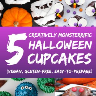 5 Creatively Monsterrific Halloween Cupcakes (Vegan + Gluten-free)