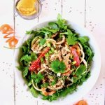 Coconut Curry Spiralized Zucchini & Carrot Noodle Salad (Vegan + GF)