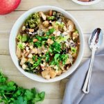 Spicy Apple, Almond, Kale & Chickpea Stew (Vegan & Gluten Free)