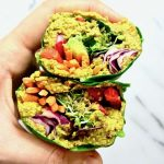 Raw Rainbow Collard Green Wraps with Curry Sunflower Seeds (Low Carb)