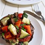 Vegan Portobello Pizza with Basil Cheese (paleo + GF)