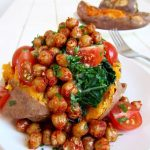 Sweet Potatoes, Crispy Chickpeas & Kale (Vegan + GF)